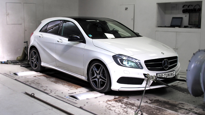 Veel extra pit na tuning Mercedes A 180